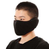 水晶绒防寒口罩 包下巴护耳朵多功能 保暖透气 纯色男女适用