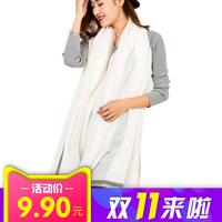 纯色超大长款 棉麻围巾披肩